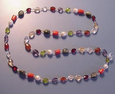 chakra navaratna necklace for crystal healing