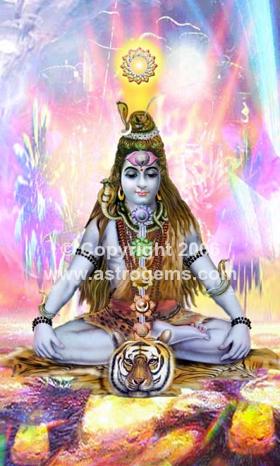 lord shiva with chakras