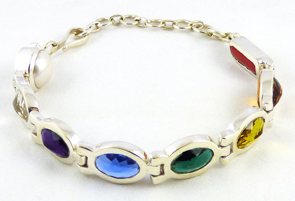 children's crystal healing bangle bracelet