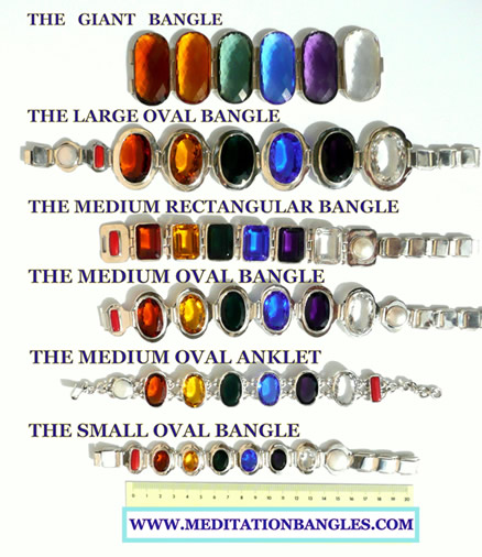 color therapy jewelry sizes