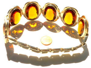 energy worker bracelet with orange quartz crystals