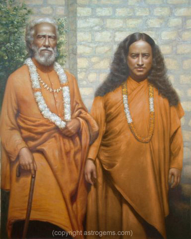 Paramahansa Yogananda with his guru Swami Sri Yukteswar