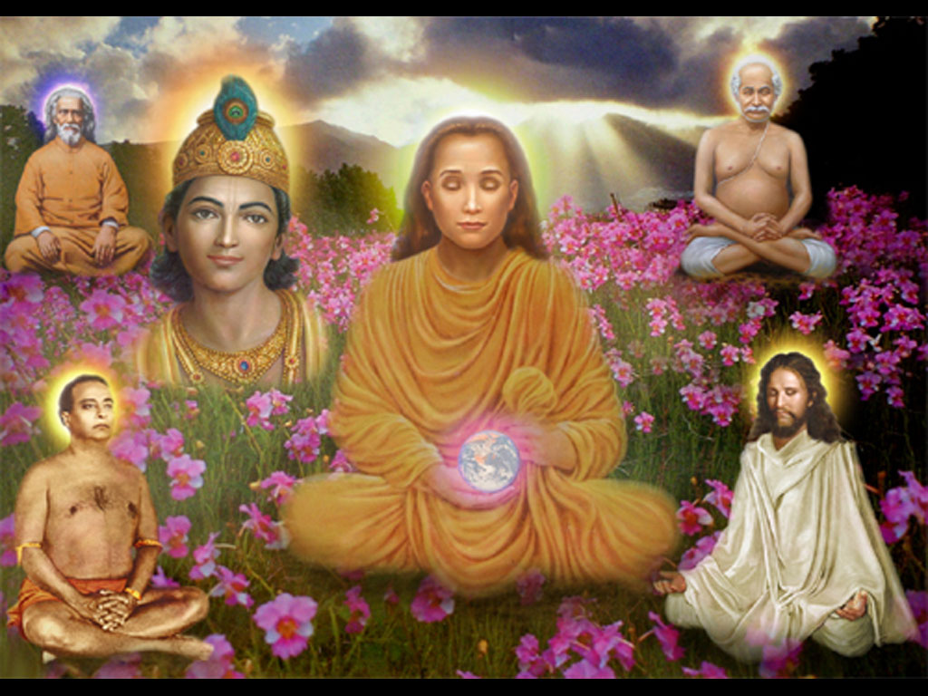 WALL097 kriya babaji painting Babaji Wallpaper